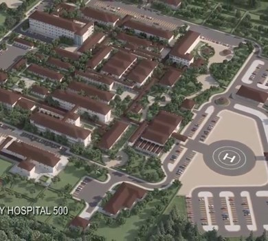 500-BED MILITARY HOSPITAL